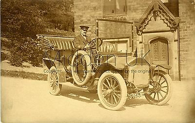 RA909 Early RP POSTCARD Wolseley Siddeley Vintage Car- Possibly at Oldham