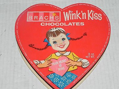 Brach's Wink 'n Kiss Valentine's Day Heart Chocolate Box Lenticular Face Rare