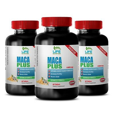 Male Performance Enhancement Tablets - Maca Complex 1301mg - Stinging Nettle 3B
