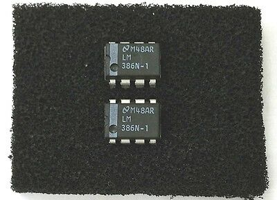 Lot of 2 NEW National LM386N-1 Low Voltage Audio Power Amplifier DIP IC