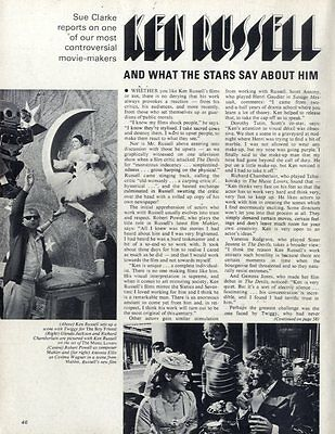 Ken Russell And What The Stars Say About Him Article & Picture(s)