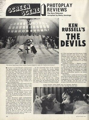 Vanessa Redgrave & Oliver Reed In Ken Russell's The Devils Article & Picture(s)