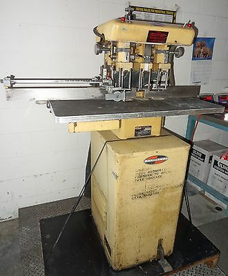 Challenge Hydraulic 3 Spindle Hole Drill W/ Foot Pedal Industrial Paper