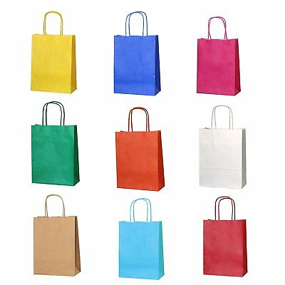 PARTY BAGS GIFT BAGS CHRISTMAS BAG COLOURED TWISTED HIGH *All Sizes*