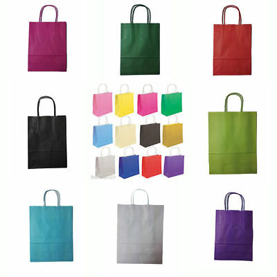 Coloured Twisted PaperParty LOOT GIFT BAGS with Handles Birthday XSmall ✔Quality