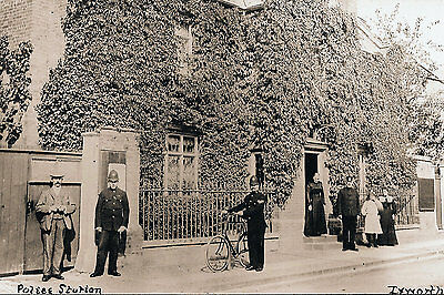 Photo Taken From A 1910 Image Of Ixworth Police Station Suffolk
