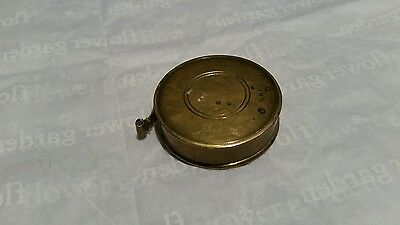 Rare Antique Miniature Brass Sewing Tape Measurer.
