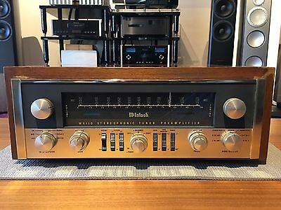 Vintage Mcintosh Mx110 Tube Preamp Great Condition Wood Case
