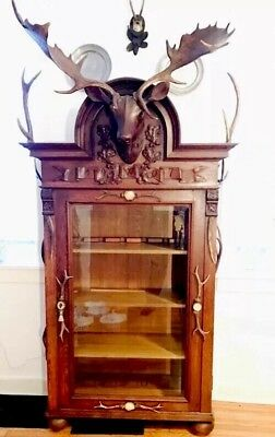 Rare One Of The Kind Antiques German  Gun Cabinet