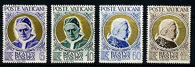 VATICAN . 1951 Pope Pius X (145-48) . Mint Never Hinged