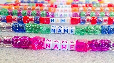 Personalised Sparkle Bead Dummy/pacifier/soother Clips