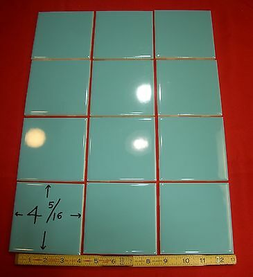 Vintage…Glossy... NOS... Blue-Green Ceramic Tile …4-5/16 inch wide...Mosaic Co.