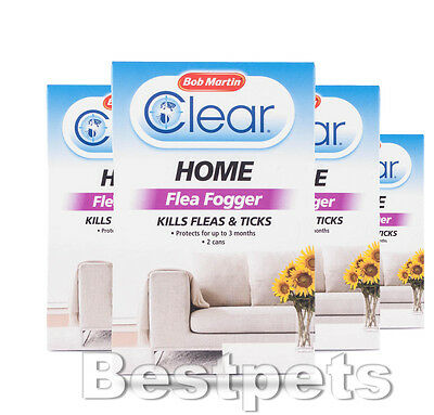 Bob Martin Clear Home Flea Fogger Kills Fleas And Ticks Killer Bomb Spray