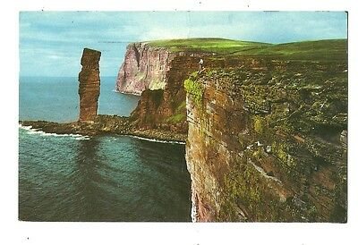 Orkney - a photographic postcard of the Old Man of Hoy