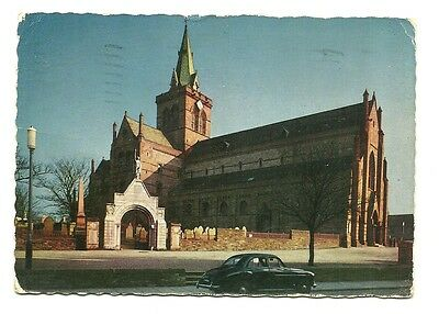 Orkney - a larger format photographic postcard of St. Magnus Cathedral, Kirkwall