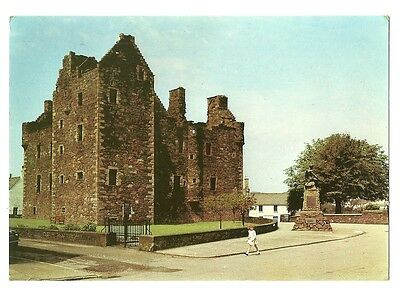 Kirkcudbright - a larger format, photographic postcard of MacLellan's Castle