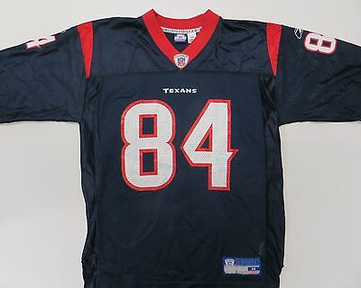 huge selection of 23f98 6ebc6 JERMAINE LEWIS #84 Houston Texans NFL Reebok AUTHENTIC Navy Jersey Medium M