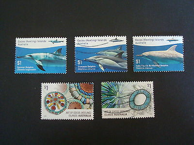 2016 - Dolphins and Arts of Cocos (Keeling) Islands - 5 x $1 Used