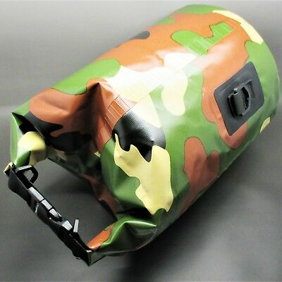 5 LITRE CAMOUFLAGE WATERPROOF BAG cadets military camping hiking survival kit