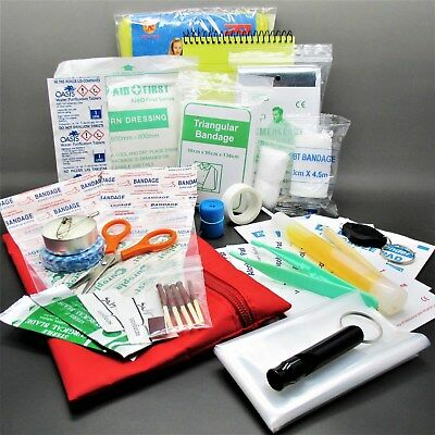 FIRST AID MEDICAL DISTRESS SIGNAL SURVIVAL KIT military camping hiking emergency