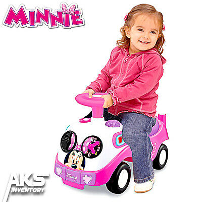 Minnie Mouse My First Ride-On Lights & Sounds Disney Kids Toddlers Girls Toy New