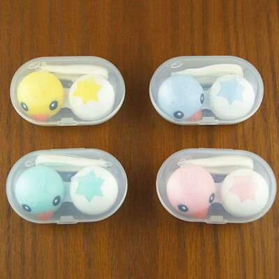 1 PC Cartoon Duck Contact Lens Case Set Storage Box Case Holder Container