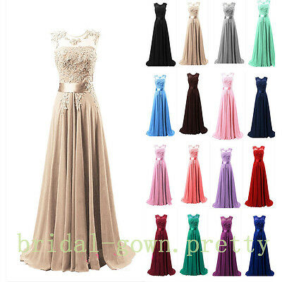 Chiffon Long Bridesmaid Dresses Ball Gown Party Cocktail Evening Prom Maxi Dress