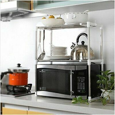 Stainless Steel Microwave Oven Stand Shelf Side Organiser Storage Rack Caddy UK