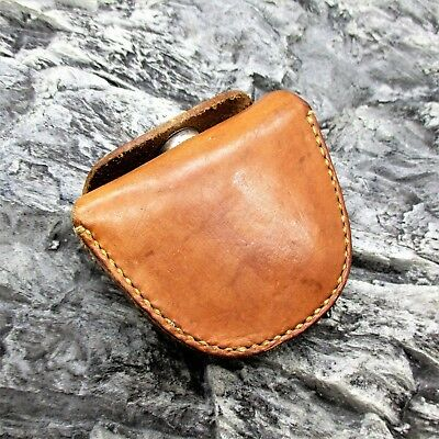 SMALL GENUINE LEATHER STORAGE BELT POUCH bushcraft fire lighting survival kit