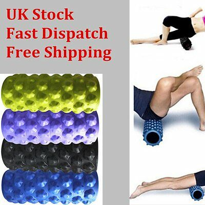 New Foam Roller Grid Sports Massage Exercise Yoga Physio Gym 4 Colors