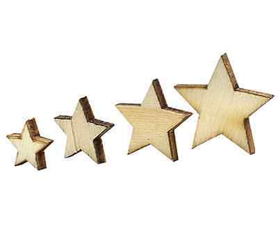 100pcs Rustic Wooden Star Shape Wood Piece Wedding Party Table Scatter Decor CA