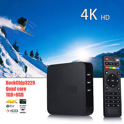 2017 Latest 4K Quad Core Android 4.4 Fully Loaded   WIFI TV Box