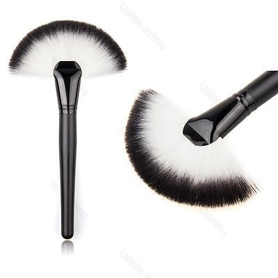 Soft #L Makeup Cosmetic Big Fan Brush Blush Powder Foundation Face Make Up Tool