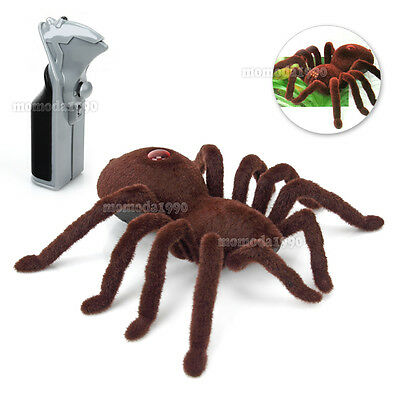 "Halloween Remote Control 11"" 2CH Realistic RC Spider Scary Toy Prank Gift Model"