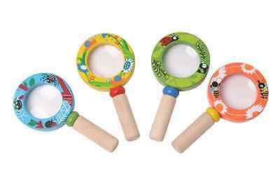 Kids Magnifying Glass WOODEN Educational Science Learning Toy 4 Types Kaper Kidz