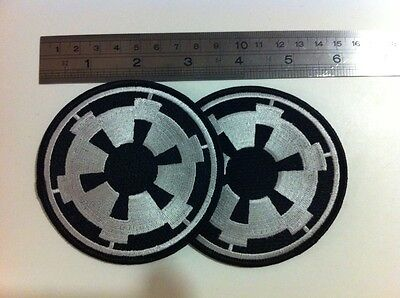 Star Wars Embroidered Imperial Cog Patch x 2 (Free Shipping)