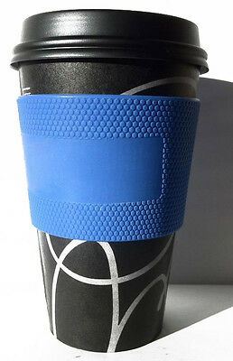 full silicone heat proof coffee cup sleeve holder java sleeve jacket for scrawl