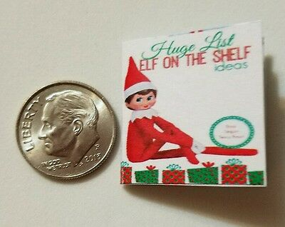 Miniature dollhouse Christmas Elf on Shelf  book Barbie 1/12 Scale accessories A