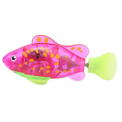 Mini Light Activated Electronic Fish Magical Robot Fish Baby Bath Time Toy 1PC