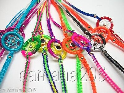 Lot 100 Dream Catcher Friendship Bracelets Mix Colors Peru Handmade