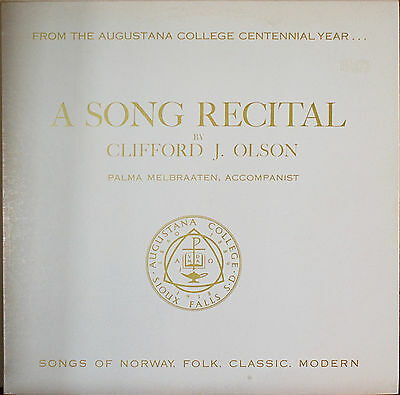 A SONG RECITAL BY CLIFFORD J. OLSON-NM1960?LP Norway Songs Augustana Coll. Cente