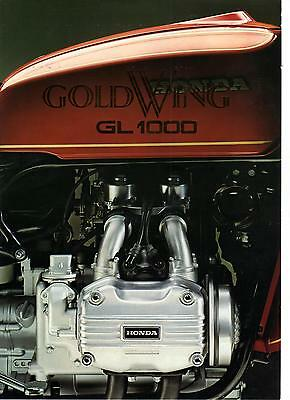 1975 Honda GL1000 Gold Wing  4 page Motorcycle Brochure NCS