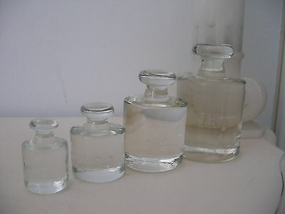 Vintage Antique Glass Scale Weights Set ~ Apothecary Pharmacy Druggist Oddity