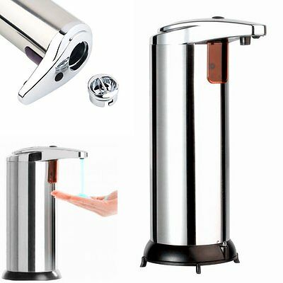 Stainless Steel Handsfree Automatic IR Sensor Touchless Soap Liquid Dispenser wa