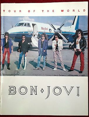 Bon Jovi Tour Of The World Concert Program USA Book 1986 - 1987
