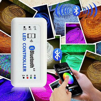 12V Wireless Bluetooth V4.0 RGB LED Strip Light Controller For iOS Android LD448