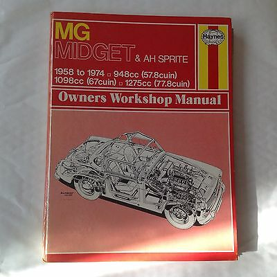 Haynes Manual 1958-1974 MG Midget & AH Sprite Owners Workshop Manual 948cc 1098