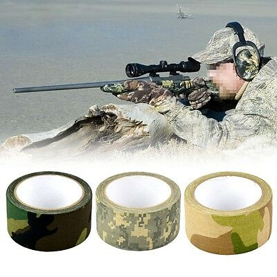 Waterproof 5cmx10m Camo Hunting Camping Hiking Camouflage Wrap Stealth Tape