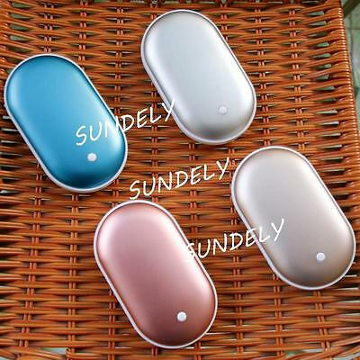 5200mah Hand Warmer USB Charger Pocket Electric Heater Rechargeable Power Bank