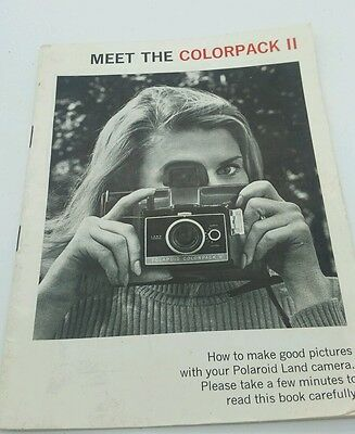 "Polaroid  "" COLORPACK II "" Instruction Manual 28p."